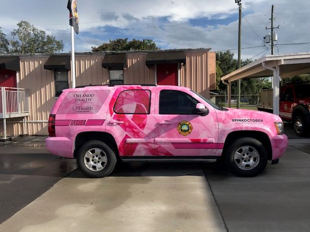 Pink Fire Chief's SUV